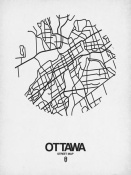 NAXART Studio - Ottawa Street Map White