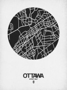 NAXART Studio - Ottawa Street Map Black on White