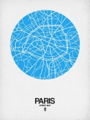 NAXART Studio - Paris Street Map Blue