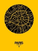 NAXART Studio - Paris Street Map Yellow