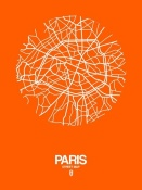 NAXART Studio - Paris Street Map Orange