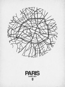 NAXART Studio - Paris Street Map White