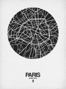NAXART Studio - Paris Street Map Black on White