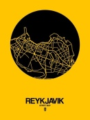 NAXART Studio - Reykjavik Street Map Yellow