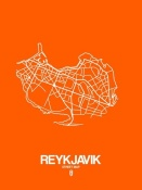 NAXART Studio - Reykjavik Street Map Orange
