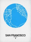 NAXART Studio - San Francisco Street Map Blue