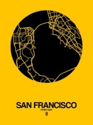 NAXART Studio - San Francisco Street Map Yellow