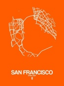NAXART Studio - San Francisco Street Map Orange