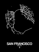 NAXART Studio - San Francisco Street Map Black