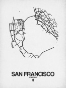 NAXART Studio - San Francisco Street Map White
