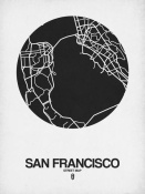 NAXART Studio - San Francisco Street Map Black on White