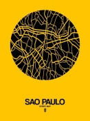 NAXART Studio - Sao Paulo Street Map Yellow