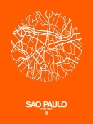 NAXART Studio - Sao Paulo Street Map Orange