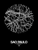 NAXART Studio - Sao Paulo Street Map Black