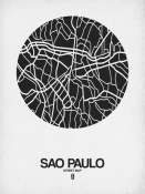 NAXART Studio - Sao Paulo Street Map Black on White