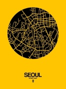 NAXART Studio - Seoul Street Map Yellow