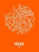 NAXART Studio - Seoul Street Map Orange