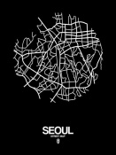 NAXART Studio - Seoul Street Map Black