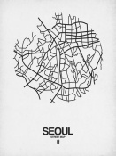 NAXART Studio - Seoul Street Map White