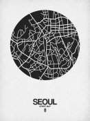 NAXART Studio - Seoul Street Map Black on White