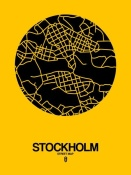NAXART Studio - Stockholm Street Map Yellow
