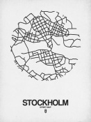 NAXART Studio - Stockholm Street Map White