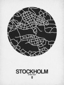 NAXART Studio - Stockholm Street Map Black on White