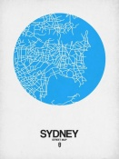 NAXART Studio - Sydney Street Map Blue