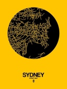 NAXART Studio - Sydney Street Map Yellow