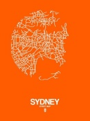 NAXART Studio - Sydney Street Map Orange