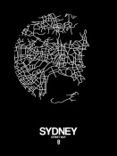 NAXART Studio - Sydney Street Map Black