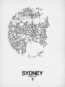 NAXART Studio - Sydney Street Map White