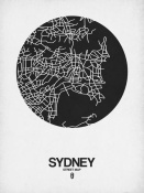 NAXART Studio - Sydney Street Map Black on White