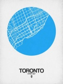 NAXART Studio - Toronto Street Map Blue