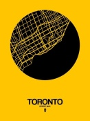 NAXART Studio - Toronto Street Map Yellow