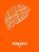 NAXART Studio - Toronto Street Map Orange