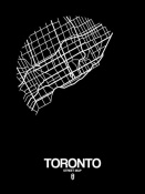 NAXART Studio - Toronto Street Map Black