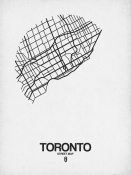 NAXART Studio - Toronto Street Map White