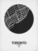 NAXART Studio - Toronto Street Map Black on White