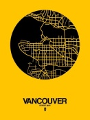 NAXART Studio - Vancouver Street Map Yellow
