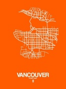 NAXART Studio - Vancouver Street Map Orange
