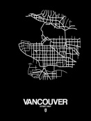 NAXART Studio - Vancouver Street Map Black