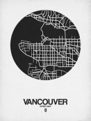 NAXART Studio - Vancouver Street Map Black on White