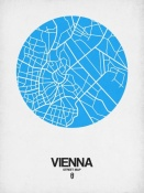 NAXART Studio - Vienna Street Map Blue