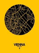 NAXART Studio - Vienna Street Map Yellow