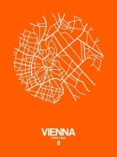 NAXART Studio - Vienna Street Map Orange