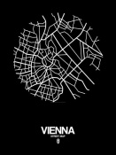 NAXART Studio - Vienna Street Map Black