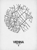 NAXART Studio - Vienna Street Map White