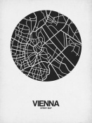 NAXART Studio - Vienna Street Map Black on White