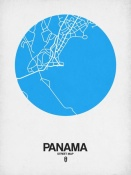 NAXART Studio - Panama Street Map Blue